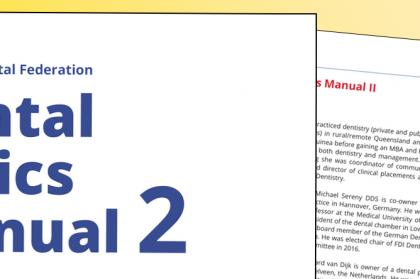 FDI lança segunda edição do Manual de Ética Dentária