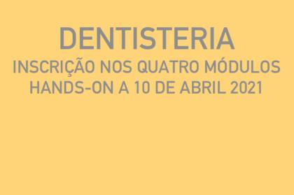 Curso modular de dentisteria (três teóricos + hands-on a 10/04/2021)